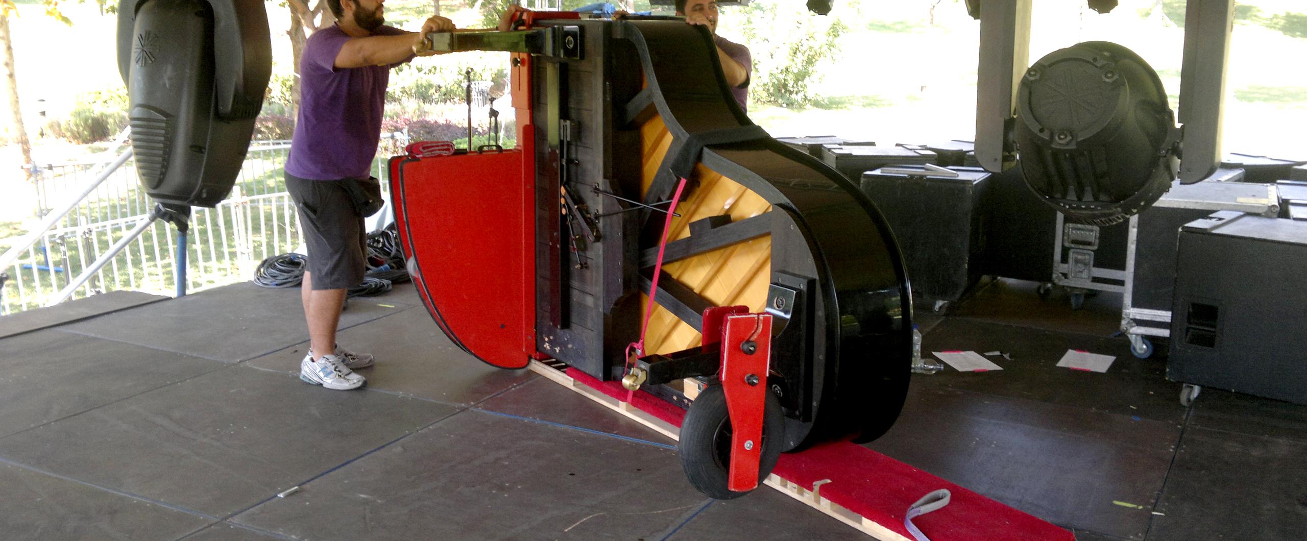 Πιάνο σε όρθια στάση προς συσκευασία
